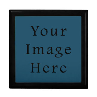 全くティール(緑がかった色)青い色の傾向のブランクのテンプレート ギフトボックス