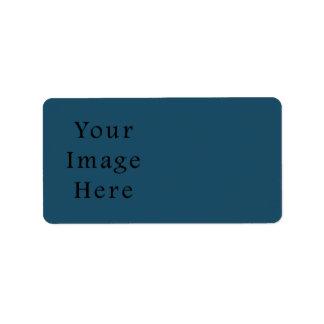 全くティール(緑がかった色)青い色の傾向のブランクのテンプレート ラベル