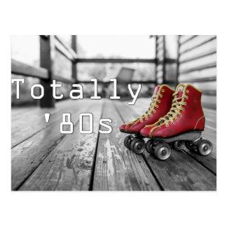 全く八十年代のローラースケート ポストカード