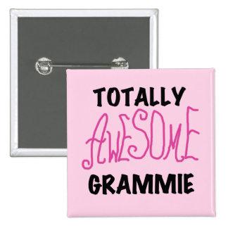 全く素晴らしいGrammieのピンクのTシャツのギフト 5.1cm 正方形バッジ