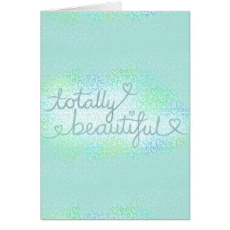 全く美しい淡青色 カード