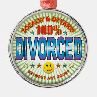 全く離婚される メタルオーナメント