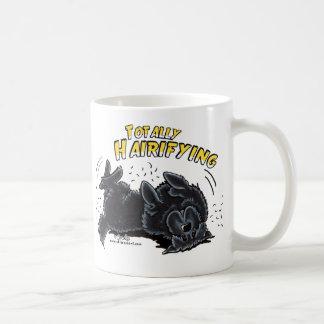 全く黒いNewfie Hairifying コーヒーマグカップ