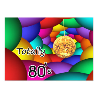 全く80年代のレトロのパーティの招待状 カード