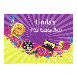 全く80s十年のテーマのレトロのパーティの招待状 カード