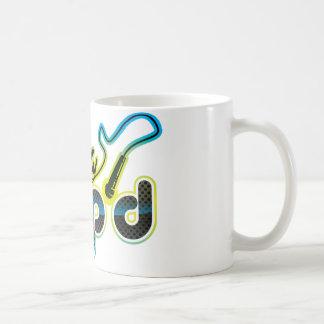 全くAmp'dの青いロゴのマグ コーヒーマグカップ
