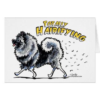 全くKeeshond Hairifying カード