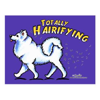 全くSamoyed Hairifying ポストカード