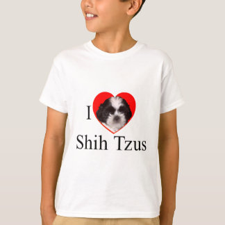 全体の家族のためのシーズー(犬)のTzuの恋人の服装 Tシャツ