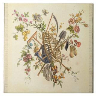 「全作品contenant国連からの庭の織物のデザイン、 タイル