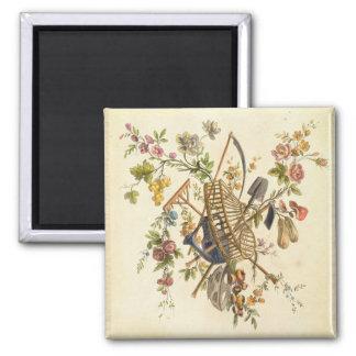 「全作品contenant国連からの庭の織物のデザイン、 マグネット