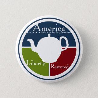 全国的なお茶会の改革ボタン 缶バッジ