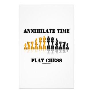 全滅させて下さい時間の演劇のチェス(反射チェスのこまセット)を 便箋