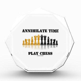 全滅させて下さい時間の演劇のチェス(反射チェスのこまセット)を 表彰盾