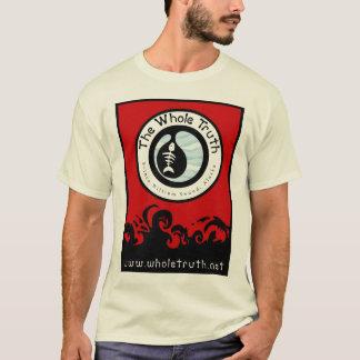 全真実-赤いデザイン Tシャツ