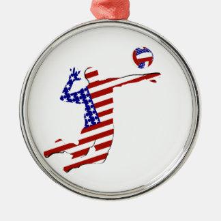 全米のバレーボール選手 メタルオーナメント