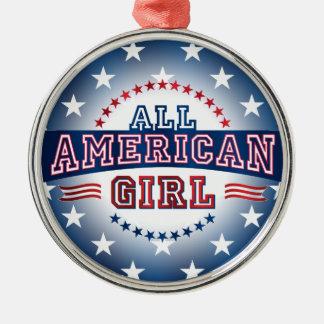 全米の女の子のオーナメント メタルオーナメント