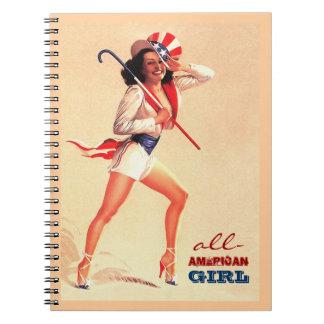 全米の女の子。 Pinデザインのギフトのノート ノートブック