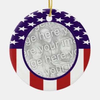 全米の星条旗のカスタムの写真 セラミックオーナメント