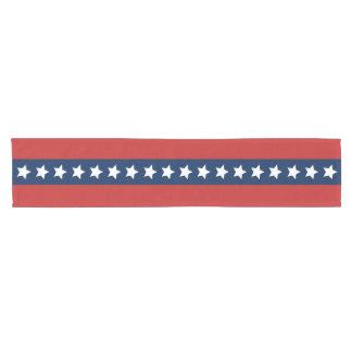 全米の星条旗の愛国心が強い旗 ショートテーブルランナー