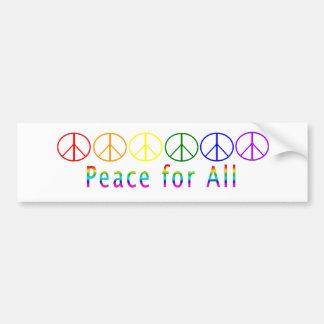 全虹のための平和 バンパーステッカー