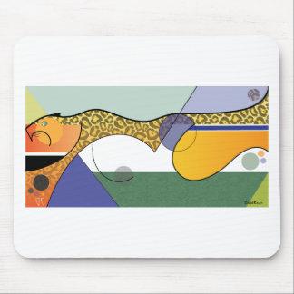 全速力で走るジャガーのデザイン マウスパッド