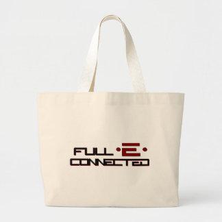 全E接続される得て下さい ラージトートバッグ