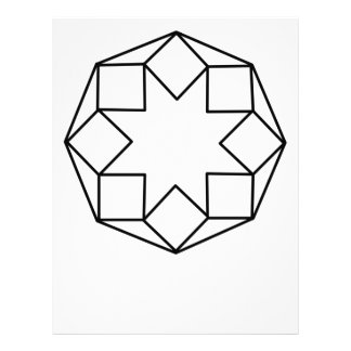 八角形の正方形 レターヘッド