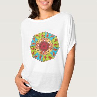 八角形RGBの曼荼羅の上、Tシャツ Tシャツ