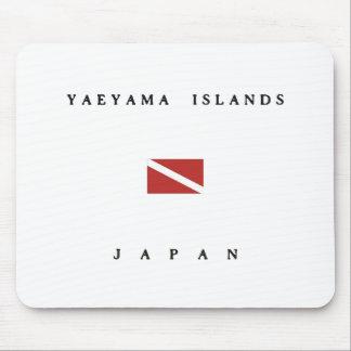 八重山列島の日本スキューバ飛び込みの旗 マウスパッド