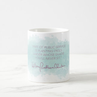 公共事業-ヒラリー・クリントンのマグ コーヒーマグカップ