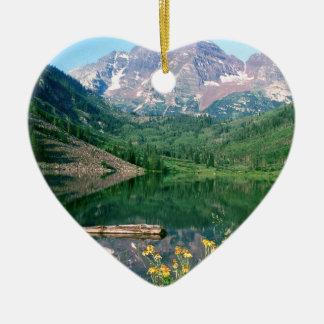 公園あずき色の鐘White川コロラド州 セラミックオーナメント