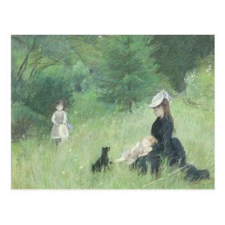 公園では、c.1874 ポストカード