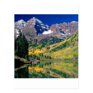 公園のあずき色の鐘White川の森林コロラド州 ポストカード