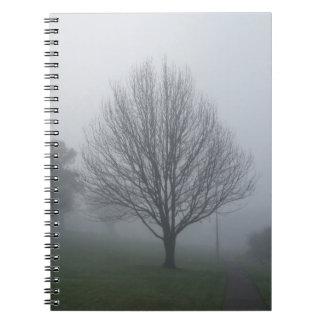 公園のノートの霧 ノートブック