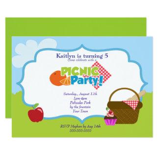 公園のピクニックパーティー 12.7 X 17.8 インビテーションカード