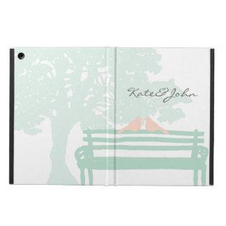公園のベンチの結婚記念日の鳥 iPad AIRケース