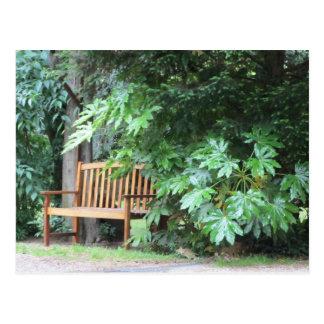 公園のベンチ ポストカード