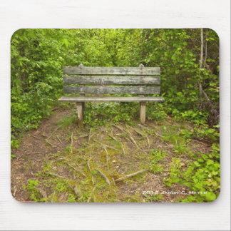 公園のベンチ マウスパッド