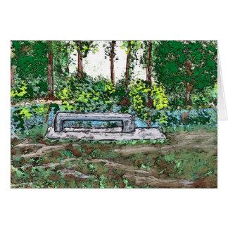 公園のベンチ: 孤独 カード
