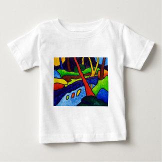 公園の川 ベビーTシャツ