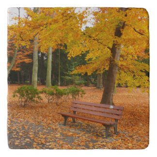 公園の平和で、静かな秋 トリベット