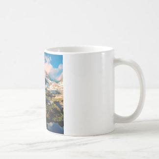 公園の旗のpeak湖カリフォルニア コーヒーマグカップ