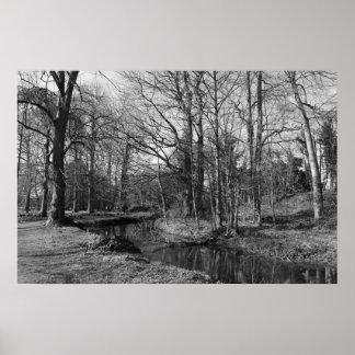 公園の景色-ビュート公園、カーディフ ポスター