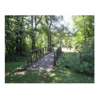 公園の橋 ポストカード