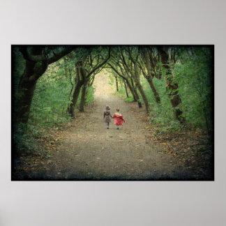公園の歩行 ポスター