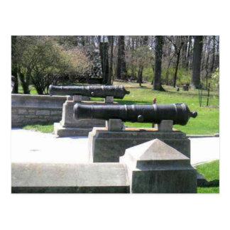 公園の歴史的大砲 ポストカード