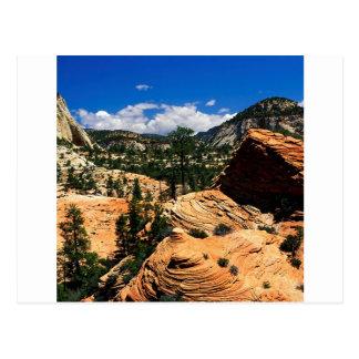 公園の渦巻く砂岩形成Zionユタ ポストカード