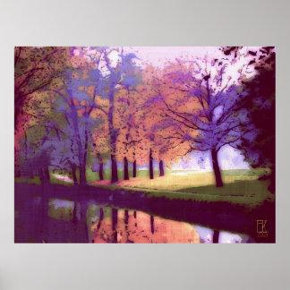公園の眺め ポスター