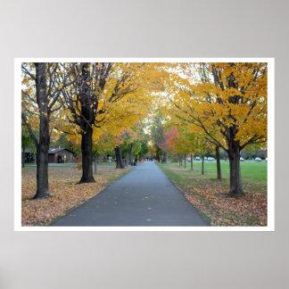 公園の秋 ポスター